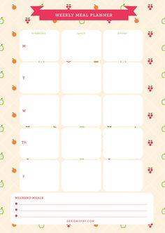 8 Best Images of Cute Printable Meal Plan - Free Meal Plan Printables, Cute Weekly Meal Planner Printable and Weekly Dinner Menu Planner Template Meal Planner Printable, Weekly Meal Planner, Free Printable Calendar, Planner Pages, Life Planner, Happy Planner, Download Planner, Planner Ideas, Planer Organisation