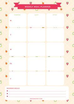 8 Best Images of Cute Printable Meal Plan - Free Meal Plan Printables, Cute Weekly Meal Planner Printable and Weekly Dinner Menu Planner Template Meal Planner Printable, Weekly Meal Planner, Planner Pages, Life Planner, Happy Planner, Download Planner, Planner Ideas, Planer Organisation, Calendar Organization