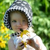 modBonnet in sprout... a simple & sophisticated summer baby sun hat that will match absolutely everything!