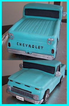 back and front view - Chevy truck by cakespace - Beth (Chantilly Cake Designs), via Flickr