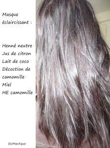 Comme par les moyens naturels de faire les cheveux est plus sombre