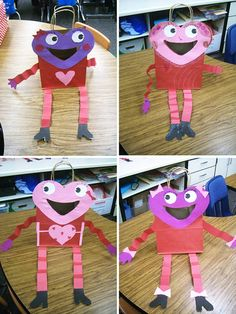 cute valentine's day bags for the students to make.