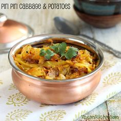 Piri Piri Spicy Cabbage and Potatoes. Patta-Gobi Aloo. Vegan Glutenfree Recipe - Vegan Richa