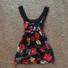 NWOT Forever 21 Top NWOT Forever 21 Top!! Adorable floral pattern, beautiful detail on straps, open back!! NEVER WORN!! Please feel free to comment if you have questions! Forever 21 Tops Tank Tops
