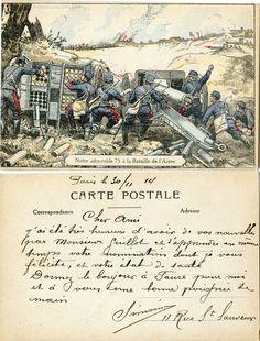 Notre admirable 75 à la Bataille de l'Aisne - 1914 (from http://mercipourlacarte.com/picture?/120)