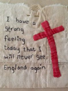 WW1 words stitched by Daisy Moon