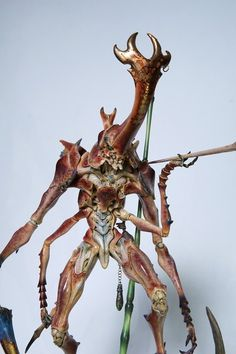 ArtStation - Sazen Lee unicorn beetleman paint up, zi chen gong Creature Concept, Monster Art, Model Kits, Goblin, Chen, Devil, Bugs, Sculpting, Fantasy Art