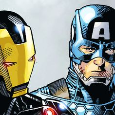 Iron Man & Cap in Original Sin #00