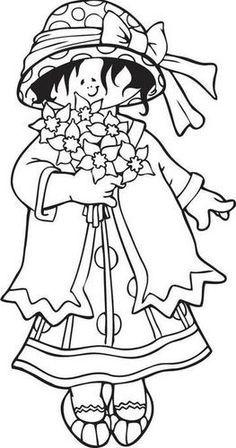 Clear Stamp Snoesje met bloemen (Tanja)