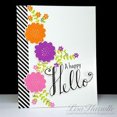 Embellish My World - Hello World stamps and dies by Cathering Pooler.