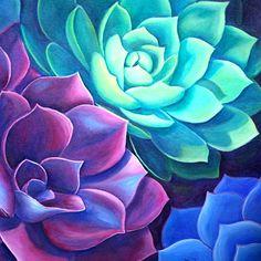 succulent painting - Buscar con Google