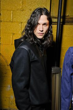 Miles McMillan being mancandy backstage at Diesel Black Gold F/W. #GimmeSomeofthatyumyumyum