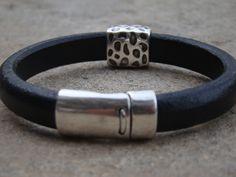 NEW!!! Black Leather Bracelet for men