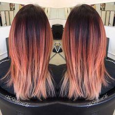 Apricot Balayage Hair Color Idea