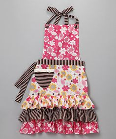 Take a look at this Bloomers Apron - Women by Whim on #zulily today!