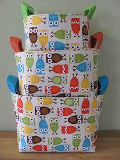 NUEVA tela organizador cesta almacenamiento por hipbabyboutique