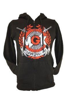 Machine Gun Kelly MGK Mens Zip Up Hoodie Sweatshirt -Crossed Gats Cleveland, OH:Amazon:Clothing