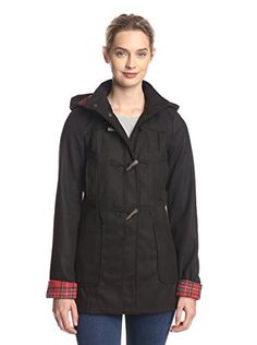 www.myhabit.com  Soft felted coat with toggle closure, stand collar with attached hood and patch pockets