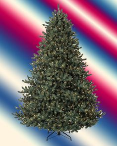 #New - Unlight Balsam Hill Classic Blue Spruce Artificial Christmas Tree, 6.5 Ft #BalsamHill
