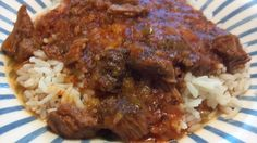 Beef and Rice Recipe, uses leftover meat from a roast