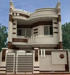 Top 30 Modern House Design Ideas For 2020 - Engineering Discoveries House Front Wall Design, House Main Gates Design, Exterior Wall Design, Two Story House Design, House Outside Design, Classic House Design, Bungalow House Design, Facade Design, Modern House Design