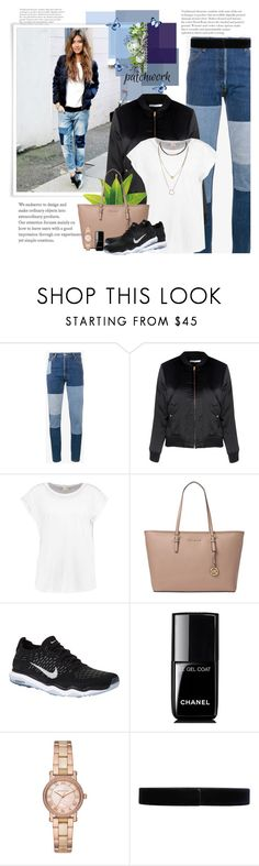 """""""Patchwork"""" by wendyfer on Polyvore featuring RE/DONE, Glamorous, Michael Kors, NIKE, Jil Sander, patchwork and fashionset"""