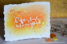 Encouragement card by May Flaum using 28 Lilac Lane embellishments