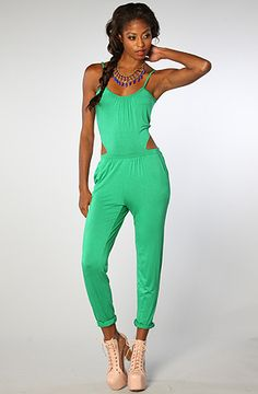 The Heatherette Jumper in Green by Lucca Couture