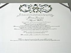 Quilled Marriage Certificate   by all things paper