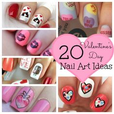 20 (Totally Adorable) Valentine's Day Nail Art Ideas. I LOVE those owls! OMG!
