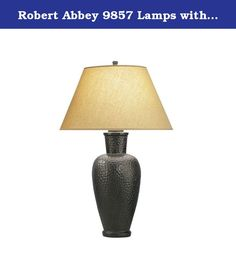 Robert Abbey 9857 Lamps with Golden Saki Fabric Shades, Antique Rust Finish. Robert Abbey has an exceptional line of quality products aimed to please even the most discerning of consumers. Relish in the design of this 1 light Lamps; from the details in the Golden Saki Fabric Shade, to the double coated Antique Rust finish, this Lamps is not only durable, but a tastefully elegant showpiece.