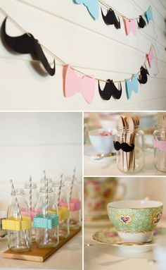 Bows and Mustaches Themed Baby Shower