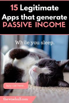 passive income apps that help you make money doing (almost) nothing.