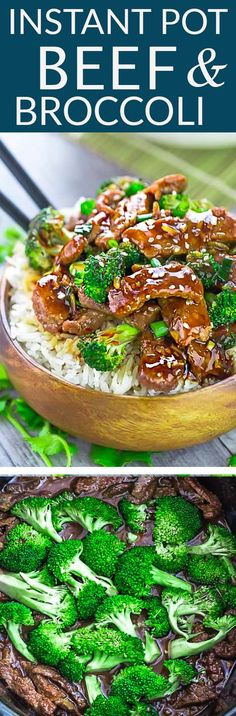 Instant Pot Beef and Broccoli - an easy set and forget Chinese takeout favorite perfect for busy weeknights. Best of all, the beef cooks up melt-in your mouth delicious in a rich and savory sauce. Recipe also works great for Sunday meal prep for work or school lunchboxes. #beef #broccoli #takeout #dinner #recipe