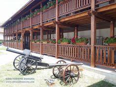 Manastirea Comana - comuna Comana, judetul Giurgiu - InfoGhidRomania.com Cannon, Romania, Pergola, Outdoor Structures, Outdoor Pergola
