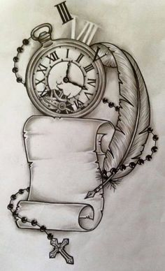 Trendy Tattoo Compass Drawing Design Your Ideas - tattoo, jewerly, other accessories . - Trendy Tattoo Compass Drawing Design Your Ideas – tattoo, jewerly, other accessories – - Tatto Clock, Clock Tattoo Design, Tattoo Design Drawings, Tattoo Sketches, Tattoo Designs, Clock Tattoos, Clock Drawings, Drawing Tattoos, Drawing Designs