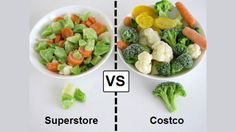 Great info! What to buy at Costco vs. Grocery Store, compares prices and value.