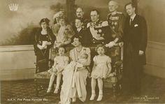 Norway King Harald birth royalty portrait RPPC