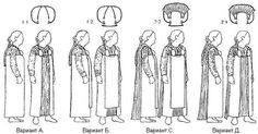 "The front and back panel ideas didn't originate with Thor Ewing in ""Viking Clothing,"" but may have with a guy called Flemming Bau in the 1980s. He proposed that the suspended dress was open in the front, but a longer backcloth/train could be attached to the back from the brooches, along with a front panel to cover the front."