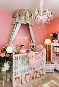 Goodnight vinyl lettering wall art decal nursery decor ideas. Love the crib canopy! Could be used later for a little girls twin bed!