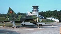 One of the first Saab SF-37 Viggen reconnaissance versions.