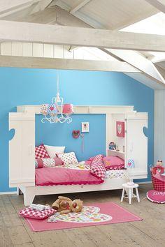 Cama cabaña infantil blanca HOME - Zoom