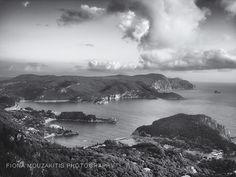 HILLS IN THE BAY. The bay of Palaiokastritsa. Corfu Greece.
