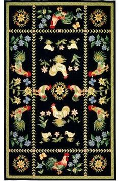 Spring on the Farm Area Rug - Country Rugs - Wool Rugs - Rugs   HomeDecorators.com