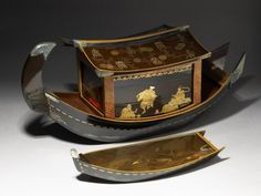 Picnic Set in the Form of a River Boat  Japan, 1801-1840  Yousef Jameel Centre for Islamic and Asian Art