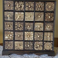 4 Drawer Chest Of Drawers Decorated With Pyrography And Paint