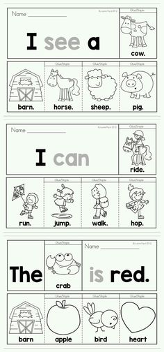 40 Pre-Primer Sight Word Fluency Flip Books (color and black and white). Includes a recording page for each booklet for extra sight word and writing practice. Great for beginning and struggling readers and ESL students. by Heather Bowers Pendarvis Sight Word Booklets, Sight Word Activities, Sight Word Worksheets, Word Games, Sight Word Practice, Writing Practice, Kindergarten Literacy, Preschool Learning, Preschool Activities