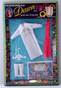 in Very Good Condition Dawn Doll Dress  Only #811 Maxi Mod