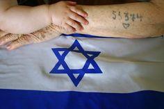 Jewish-Holocaust survivor and Israeli Flag| via Tumblr