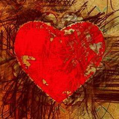 "Red Heart, Giclee on Canvas, Other Sizes Available, See ""Options"" below"